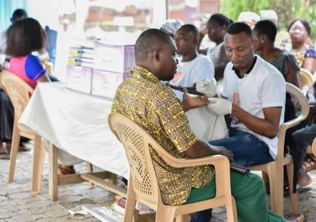 Grikob foundation organises health screening for residents of Nsawam